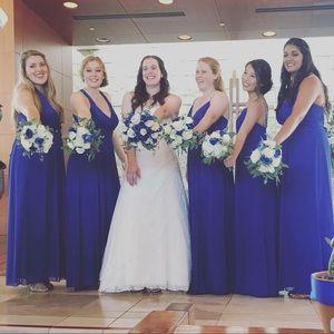 {david's bridal} bridesmaid dress with rhinestones